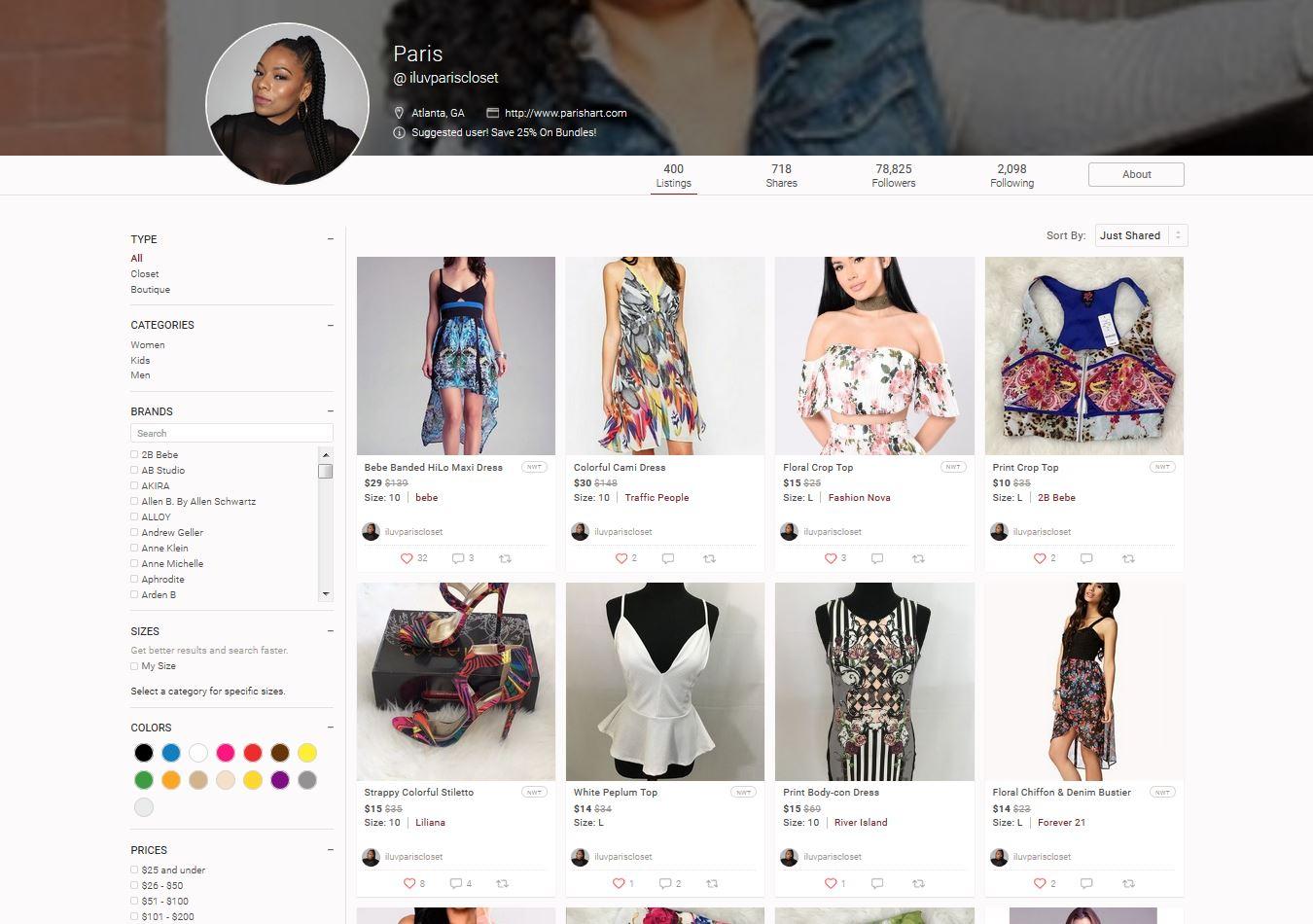 Shop My Poshmark Closet - ParisHart