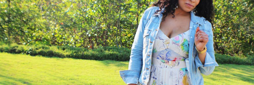 parishartdotcom | denim jackets | floral dress