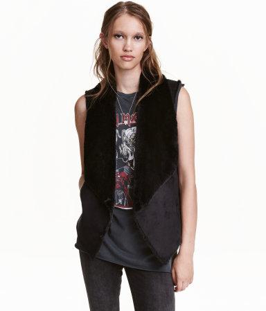 HM Suede Faux Fur Vest | Fall Vests