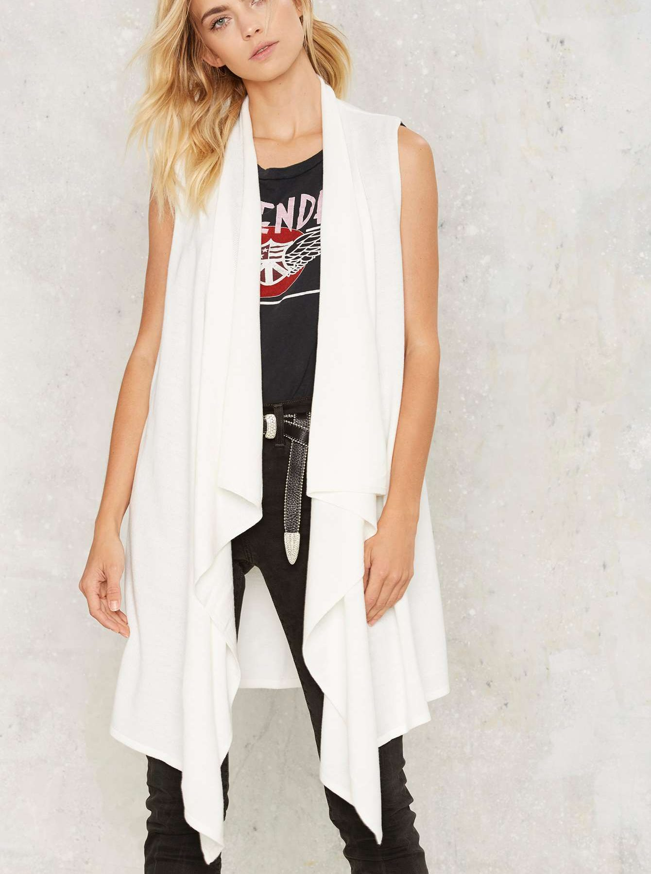 Nasty Gal | Drape Vest | Fall Vests