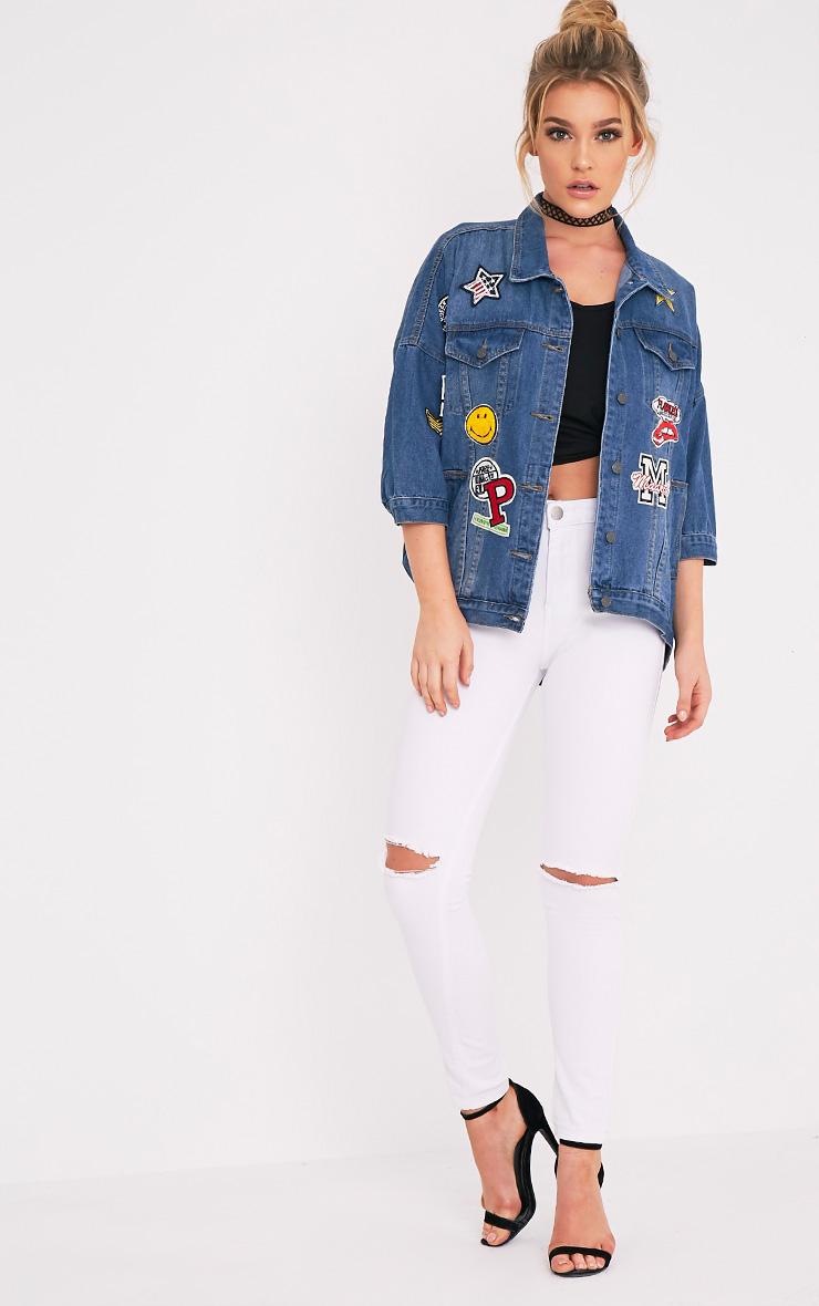 Pretty Little Things Denim Patch Jacket