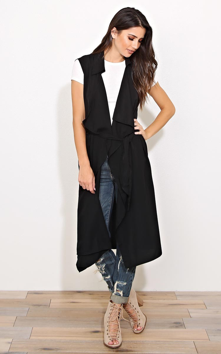 Styles For Less | Black Trench Vest | Fall Vests