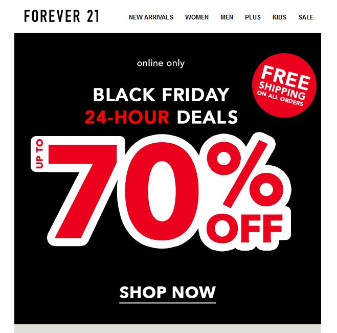 Forever21 Black Friday