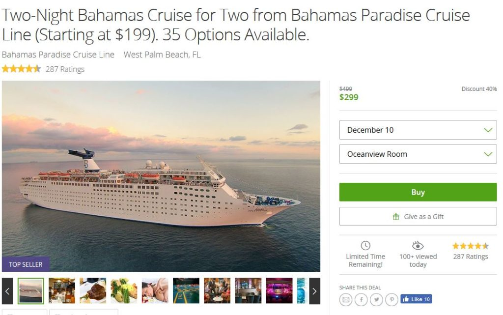 Groupon Bimini Bahamas Cruise