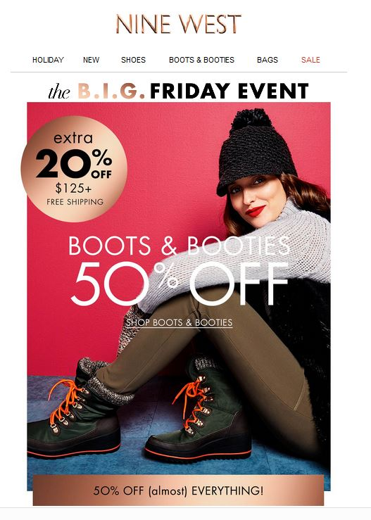 NineWest Black Friday