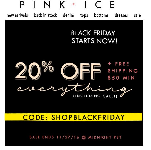 Pink Ice Black Friday Sale