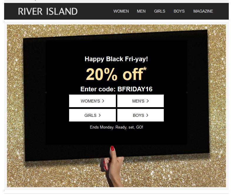 River Island Black Friday